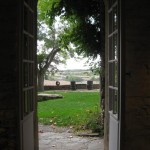 Looking out from the common area.