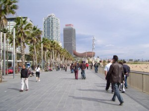 Boardwalk in Barcelonetta