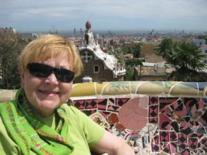Antoni Gaudi's Guell Park in Barcelona Spain