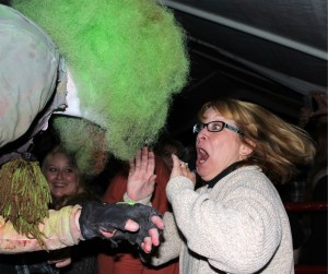 Demented Clown!  Run!