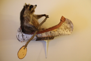Raccoon in a birch canoe.  What's a good name for him?